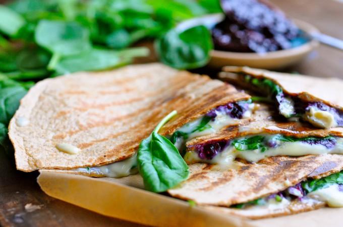 Tortilla med spinat