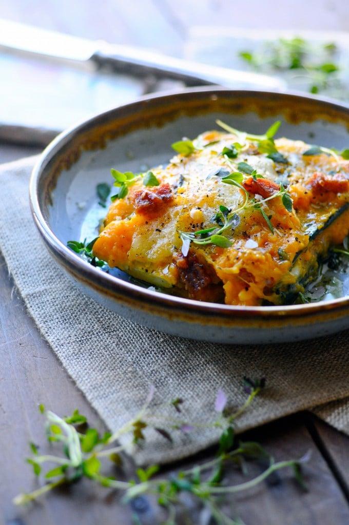 Sund lasagne opskrift med squash   www.juliekarla.dk