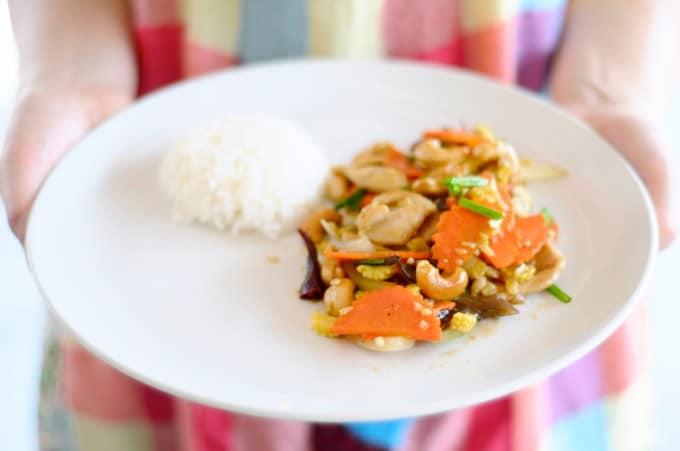 Den autentiske thailandske Chicken Cashewnut