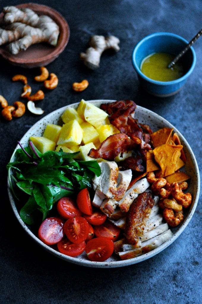 Salat med kylling og nødder | www.juliekarla.dk