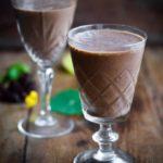 Blåbærsmoothie med kakao og nøddemælk