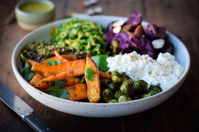 Salat med soede kartofler og kaal