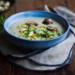 Champignonsuppe – cremet og vegansk