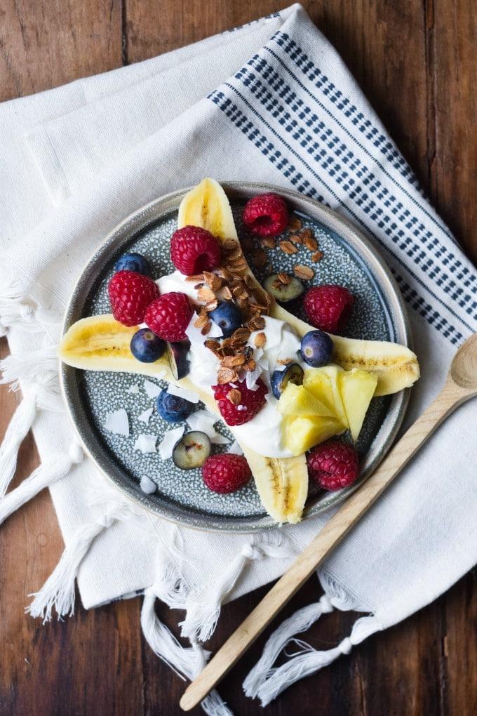 banana split yoghurt