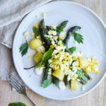 Salat med asparges og citron mayonnaise